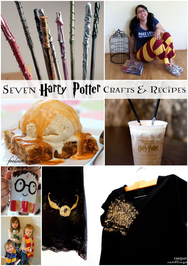 harry potter inspired crafts and recipes -- great for a party!