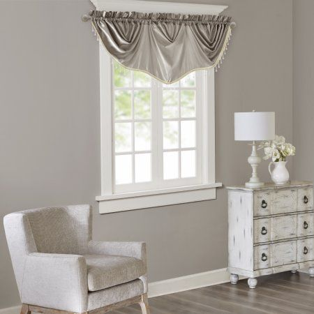 Home Essence Eila Faux Silk Beaded Trim Imperial Valance