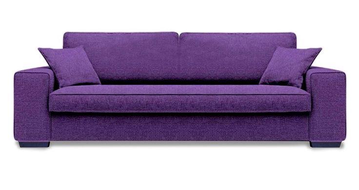 Divano viola design moderno vari colori artigianale Made in Italy