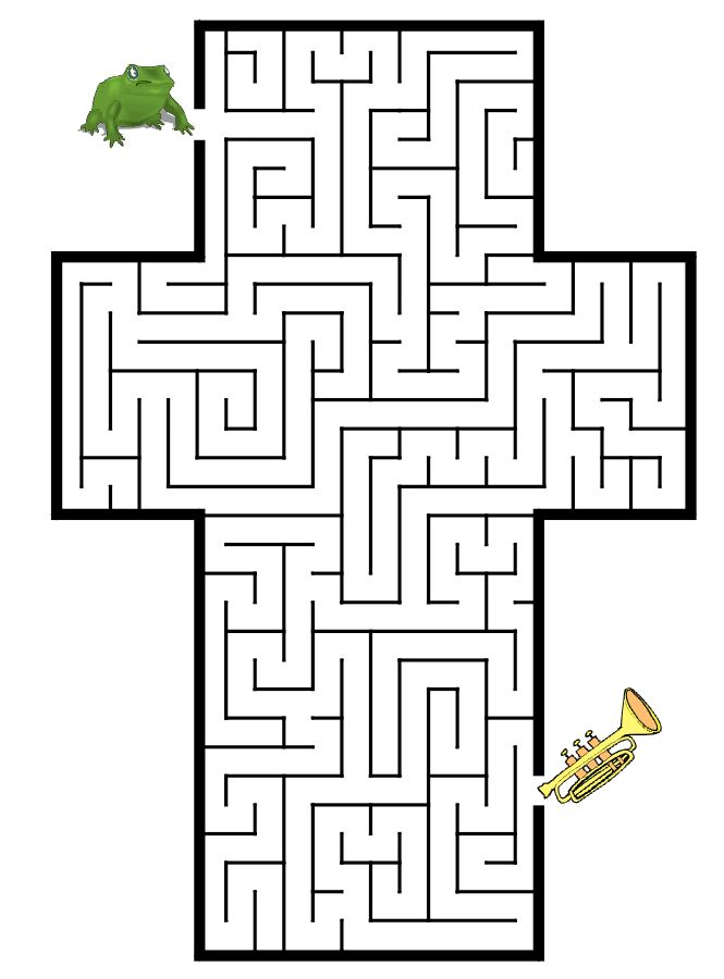 coloring pages mazes letter - photo#18