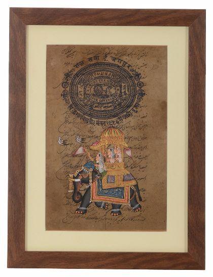 UTSAV KRAFT Rajasthani Painting with Frame (46 cm x 2 cm x 34 cm, UK272)