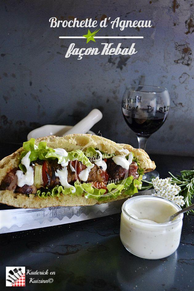 Brochette d'agneau à la plancha façon kebab - Recette plancha