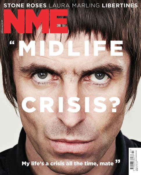 NME Magazine cover, Liam Gallagher, June 8th 2013