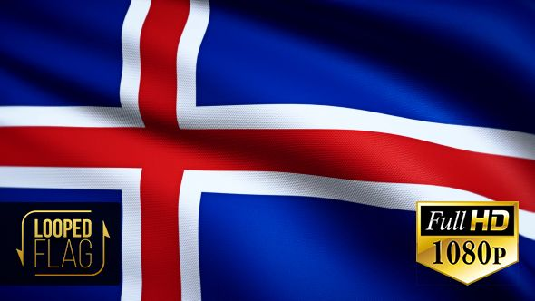 Iceland Flag by bourjart National Flag of Iceland Realistic looping animation with Highly Detailed fabricQuicktime MOV1920x1080Photo JPEG29.9710 secondsIf you like this item please rate. Thank you for purchasing!