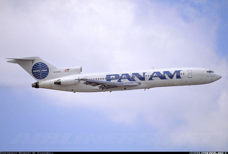 "Airliners.net - A classic shot of Pan Am 727 ""Clipper Pathfinder"" at Newark Robert M. Campbell"
