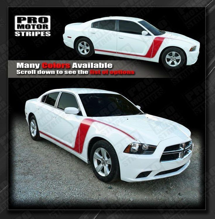 Dodge Charger 2011-2014 Thunderbolt Shock Side Stripes