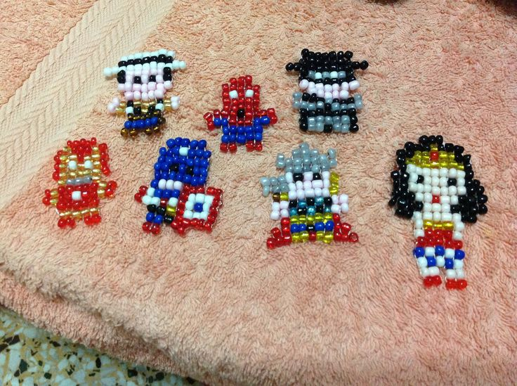 Perler Beads Super Heroes Creations Pinterest Beads