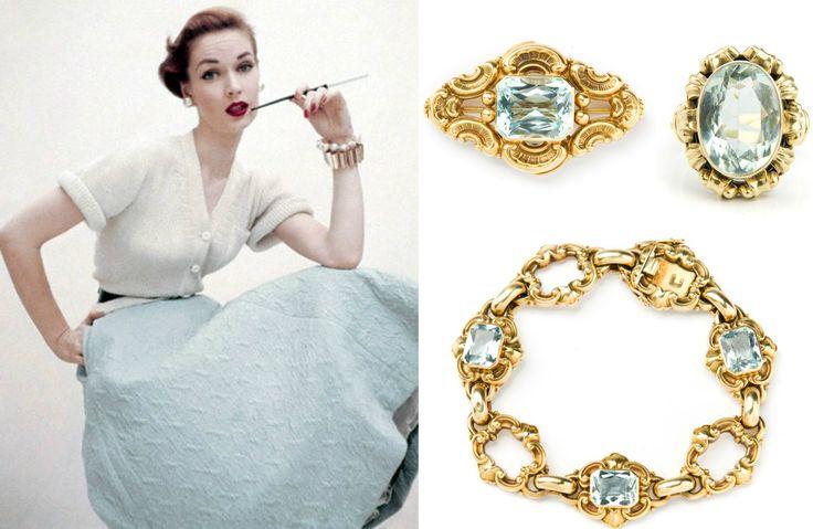 #biedermeier #aquamarine # gol #jewelry # blue #desa #auctionhouse #fashion #vogue