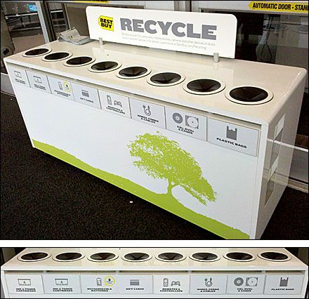 Single-Unit 8 Bin Recycling Center