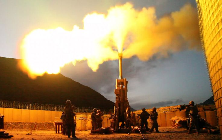 Firing rounds with an M777 Howitzer Afghanistan 2009 - M777 howitzer - Wikipedia, the free encyclopedia