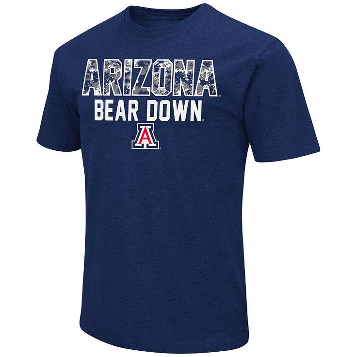 Men's Campus Heritage Arizona Wildcats Camo Wordmark Tee, Size: Medium, Dark Blue