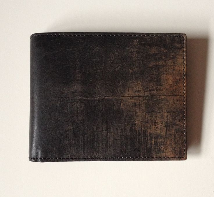 Men's Leather Wallet Black Wallet with Modern Art Print Slim Credit Card Holder Flat Bi Fold Genuine Leather Bill Fold Cool Gifts for Him by NewYorkReaction 44.00 USD http://ift.tt/1J1YnvI