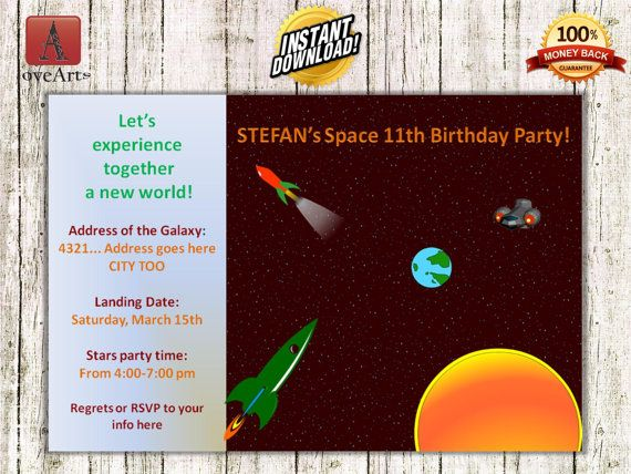 Hey, I found this really awesome Etsy listing at https://www.etsy.com/listing/238900994/instant-download-space-invitation-fully