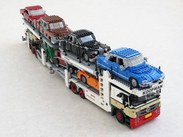 Mercedes Actros car transporter (4) by Mad physicist, via Flickr