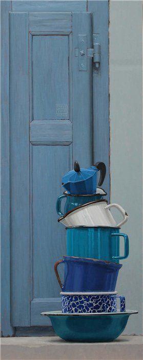 Vernice sulle scale., 2012. olio su tela. 100x100cm.…