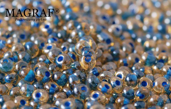 Czeskie szklane koraliki kropelki.