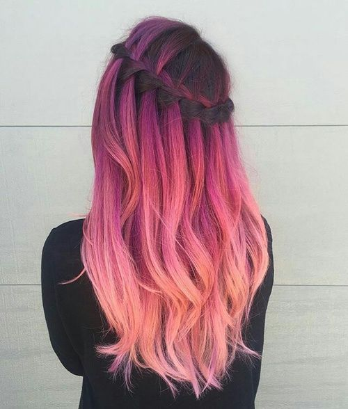 Color Hairstyles Alluring 824 Best Hair Of A Different Color Images On Pinterest  Cabello De
