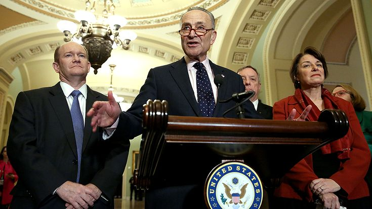 """Senate Minority Leader Charles Schumer (D-N.Y.) on Sunday called a White House budget proposal to reduce funding for the National Instant Criminal Background Check System (NICS) """"downright dangerous"""" followi"""