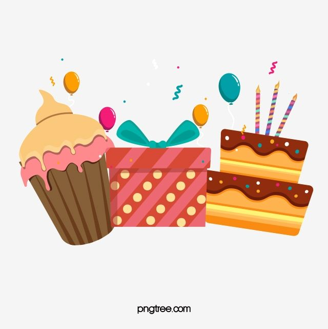 With Cake And Gift Birthday Happy Png And Vector With