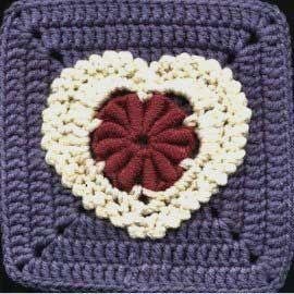 Lacy Bullion Heart: free pattern