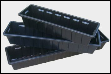Long Rectangular Plastic Planters with inserts | Window Box Liners, Flower Box Inserts & Planter Box Liners