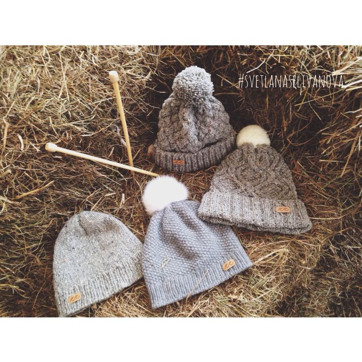 Knitted hats (#beanie #wool #knitting #шапка)