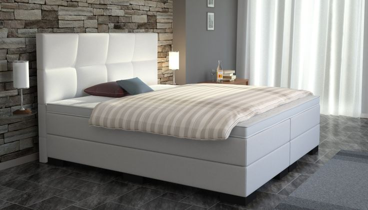 25 creative boxspringbett wei ideas to discover and try. Black Bedroom Furniture Sets. Home Design Ideas