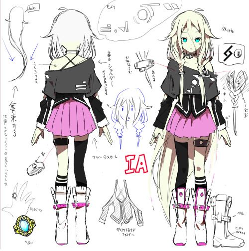 "animereferencesheets: "" Vocaloid IA """