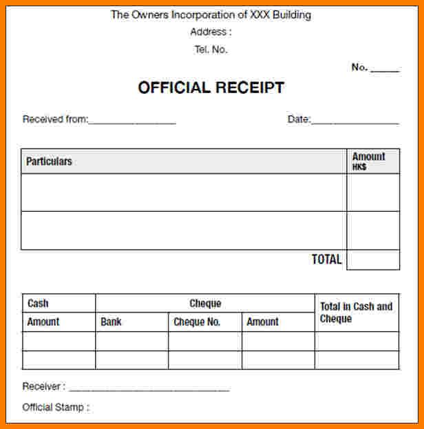 6 Official Receipt Template Authorization Memorandum Receipt Template Invoice Template Word Templates Printable Free