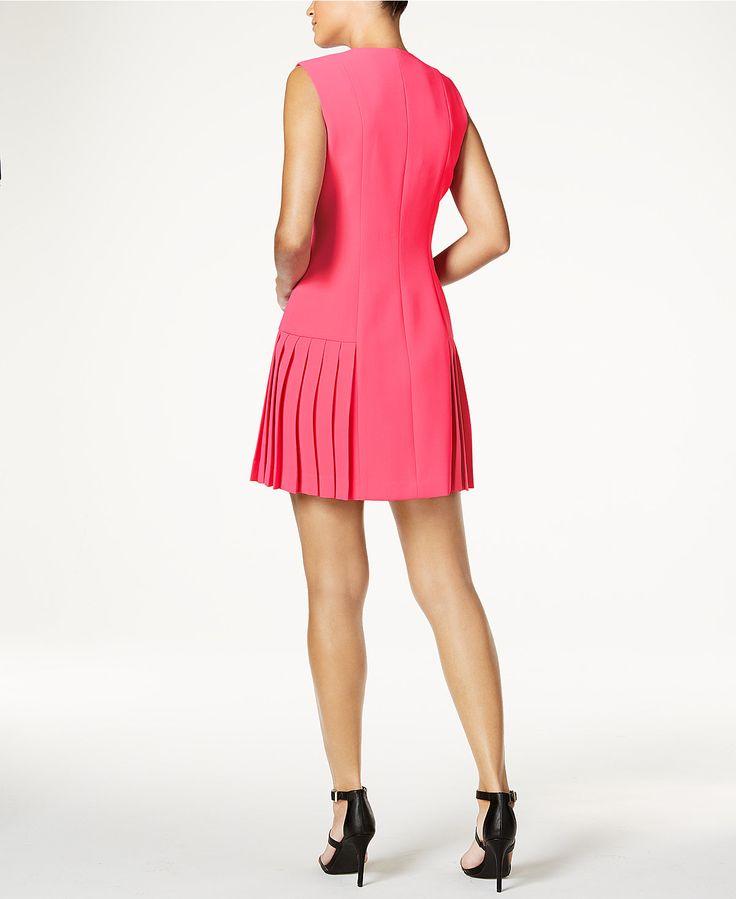 Anne Klein Zip-Up Drop-Waist Dress - Dresses - Women - Macy's