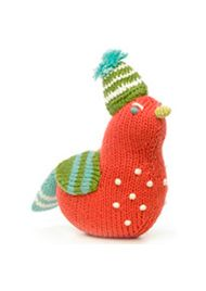 Tambour Bird Rattle by blabla $23: Stuffed Toys, Knits Birds, Blablakid Com, Birds Rattle, Fun Stuff, Tambour Birds, Knits Rattle, Knits Toys, Baby Stuff