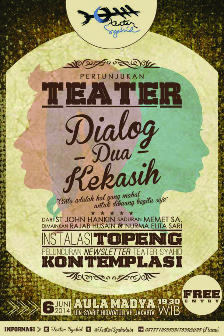 Dialog Dua Kekasih  Teater Syahid UIN Jakarta 2014