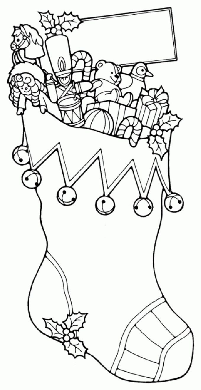 Clip Art Christmas Stocking Coloring Pages Pattern 1000 images about christmas coloring on pinterest hidden 53 and activity pages to keep your kids busy break decorative stocking