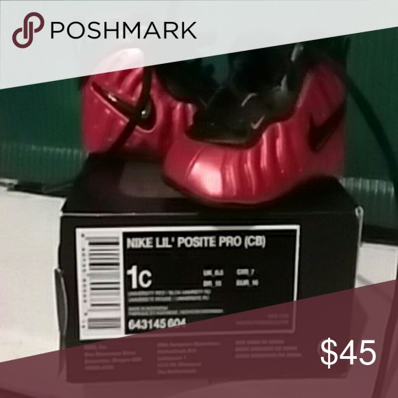 Infant foam posites Red and black foam posites Nike Shoes Sneakers