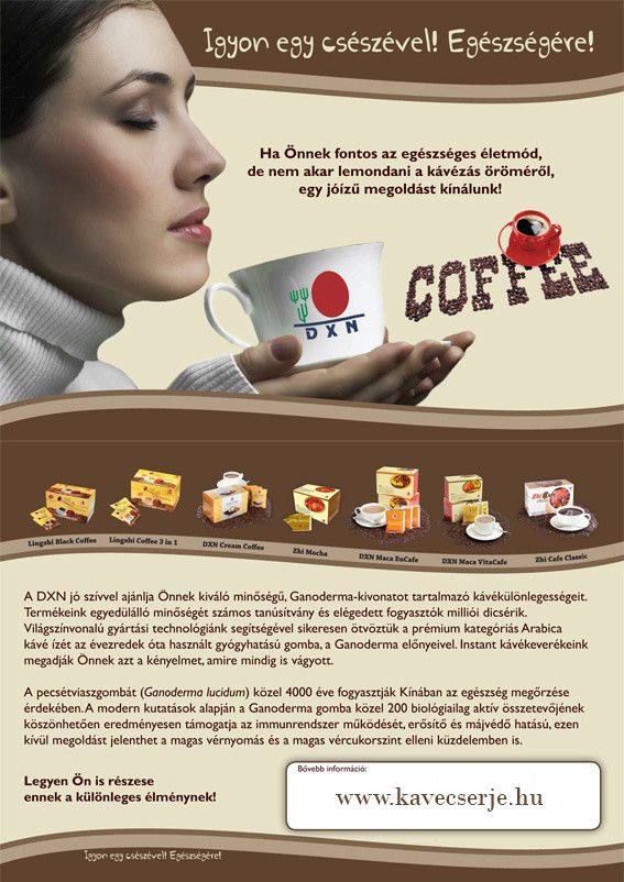 Egészséges kávé ganodermával! kavecserje.hu