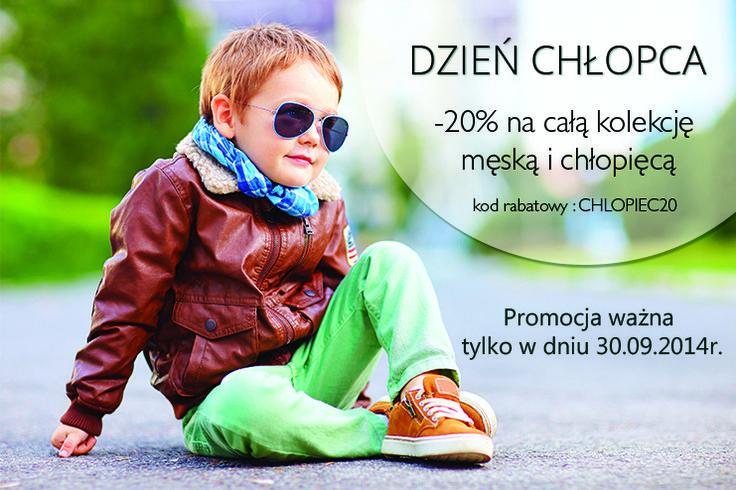 Na Dzień Chłopca http://sklep.kari.com/ proponuje 20% zniżki na buty dla mężczyzn i chłopców. #banner #sklepkari #kari #dzienchlopaka #rabat