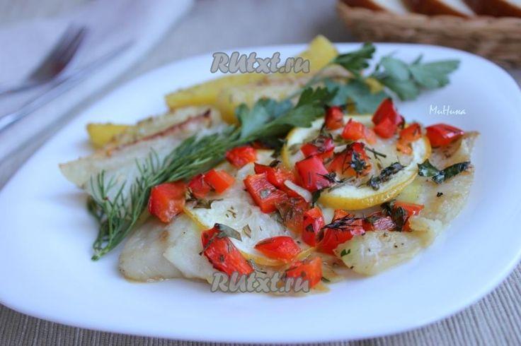 Сочная, ароматная запеченная рыба с лимоном и болгарским перцем готова!