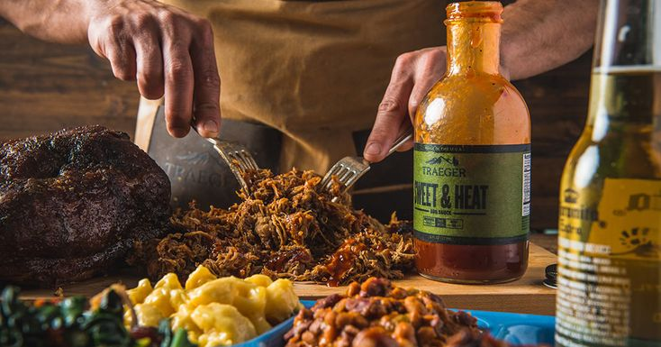 BBQ Pulled Pork with Sweet & Heat BBQ Sauce