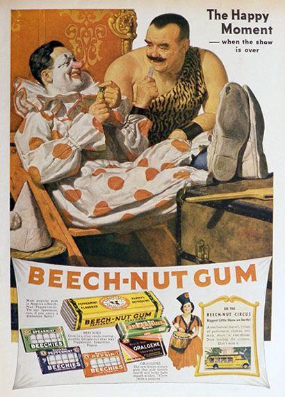 1937 Beechnut Gum Ad ~ Circus Performers