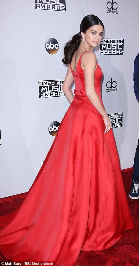Ravishing in red: Selena, 24, made a rare public appearance follow a three month hiatus from her music career due to health issues