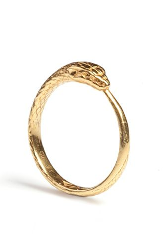 What Is This Symbol, You Ask? Well a Ouroboros of course  http://www.refinery29.com/snake-jewelry#slide5  Rachel Entwistle Ouroboros Snake Ring, $150, available at Wolf & Badger.