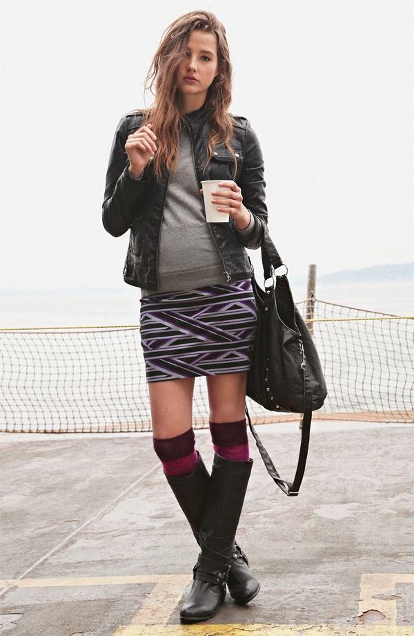 Collection B Jacket & Rubbish® Sweater #Nordstrom #BPNordstrom #FallTrend