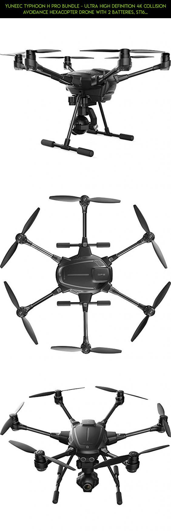 Yuneec Typhoon H Pro Bundle - Ultra High Definition 4K Collision Avoidance Hexacopter Drone with 2 Batteries, ST16 Controller, Wizard and a Backpack #plans #drone #drone #gadgets #racing #camera #yuneec #tech #parts #shopping #products #fpv #kit #technology #4k