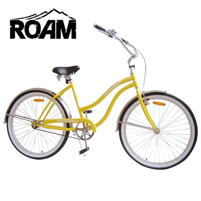 Ladies' 26'' Beach Cruiser Bicycle - Yellow   Buy Adult Bikes Online - oo.com.au