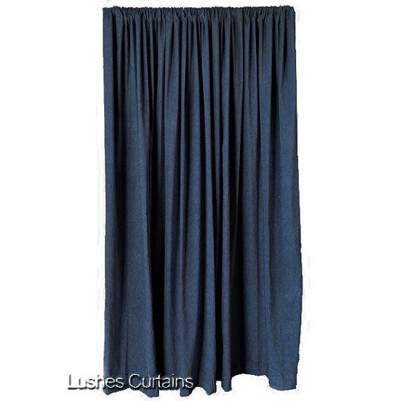blue tall window velvet curtain panel extra long soundnoise reducing drape home furniture u0026 diycurtains u0026 u0026 pelmets