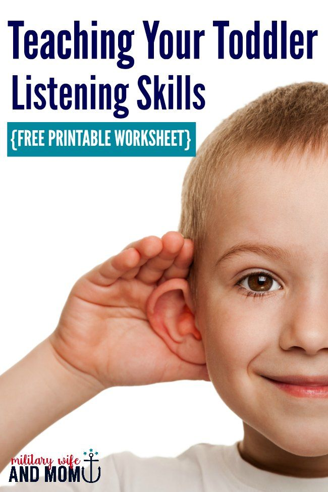 Awesome ways to improve toddler listening! Free printable worksheet at the end of the post   toddler listening skills   teach toddlers to listen   toddler won't listen via @lauren9098