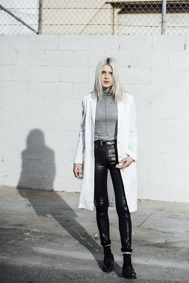Get this look: http://lb.nu/look/8037470  More looks by Rima Vaidila: http://lb.nu/rimarama  Items in this look:  Aritzia White Linen Jacket, Citizens Of Humanity Waxed Skinny Jeans   #chic #minimal #street