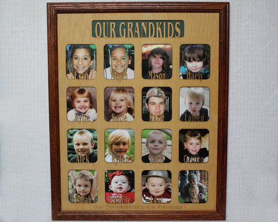 11 to 16 grandkids names mat 16x20 custom by jennysframeworks