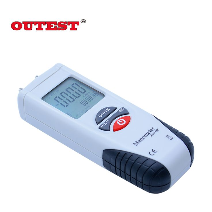100% NEW HT1890 Digital Piezometer Differential pressure gauge meter Non contact Dual LCD Backlight display pressure tester