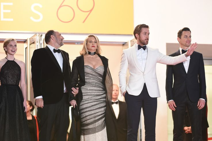 "Ryan Gosling Photos - Actress Murielle Telio, Producer Joel Silver and his wife, actor Ryan Gosling and actor Matt Bomer attend ""The Nice Guys"" premiere during the 69th annual Cannes Film Festival at the Palais des Festivals on May 15, 2016 in Cannes, France. - 'The Nice Guys' - Red Carpet Arrivals - The 69th Annual Cannes Film Festival"
